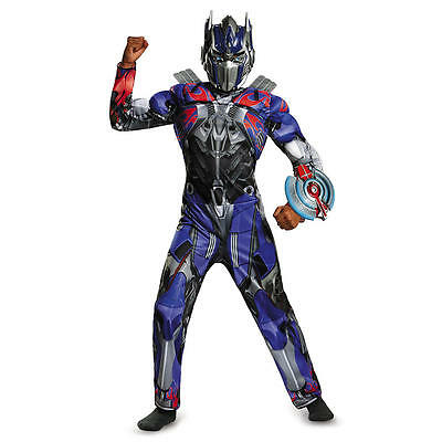 Transformers Boys Optimus Prime Classic Muscle Costume w/ Sculpted Weapon S 4-6