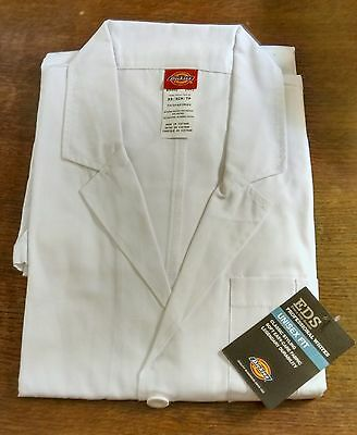 Unisex Fit White Dickies EDS Lab Coats, size M