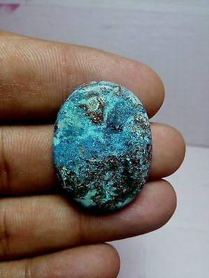 40.00cts NATURAL PENDANT SIZE AZURITE MELACHITE OVAL CABOCHON LOOSE GEMS STONE