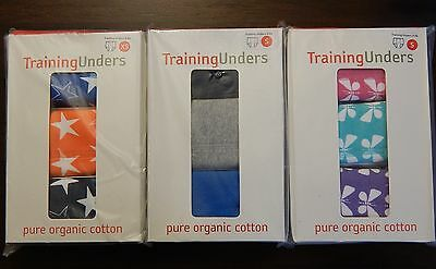 NEW HANNA ANDERSSON Training Unders 3-Pack Solid Butterfly or Stars Boys & Girls
