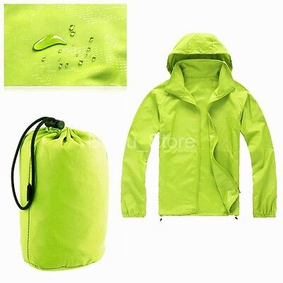 Portable Rain Coat Cycling Running Hiking Waterproof Windproof Jacket Outdoor