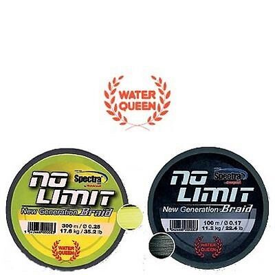Tresse Water Queen No Limit 0,15mm 8.500kg 100m jaune