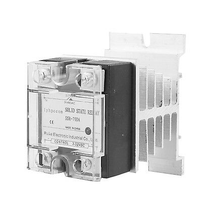 uxcell DC 3-32V to AC 24-480V 70A Single Phase SSR Series Solid State Relay