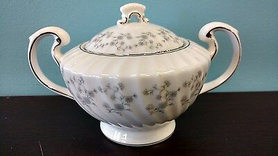 Mikasa Forget Me Not Pattern Sugar Bowl with Lid