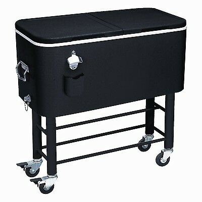 Rio Brands Entertainer Rolling Party Cooler Midnight Sands