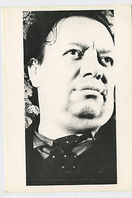 Diego Rivera Mexican Painter Vintage Photo Postcard
