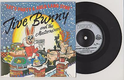 "Jive Bunny And The Mastermixers - Let's Party - Auld Lang Syne  7"" Single P/s"