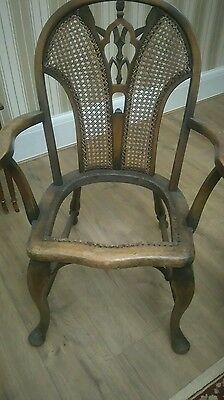 solid oak arm chair for restoration