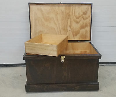 Tack Trunk (Mission Oak Stain)