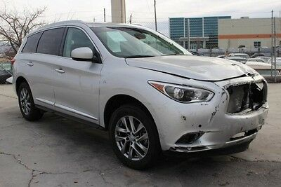 2014 Infiniti QX60 AWD 2014 Infiniti QX60 AWD Damaged Salvage Only 16K Miles Loaded w Options Luxurious