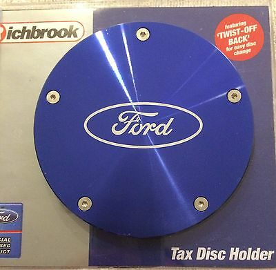Richbrook Ford Officially Licensed Logo Brand blue tax disc holder permit pass