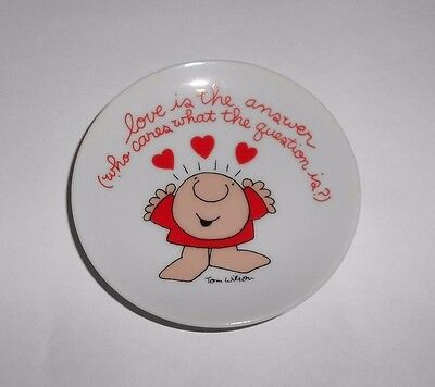 Vintage Tom Wilson ZIGGY Love is the Answer Decorative Plate Amer Greetings 1978