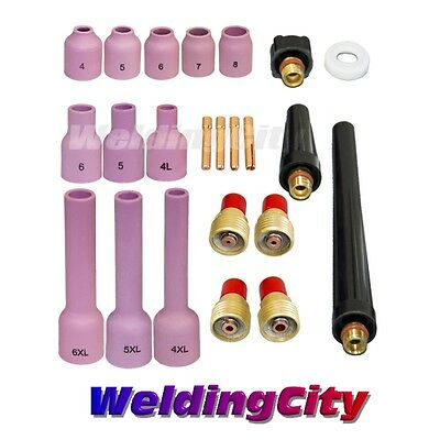 "TIG Welding Torch 9/20 Gas Lens Accessory Kit .040""-1/8"" T32B 