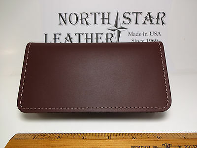North Star Burgundy Leather Standard Checkbook Cover-First-Made In USA#132BD