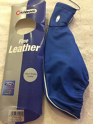 Richbrook Ford Officially Licensed blue leather hand brake cover RETRO FORD