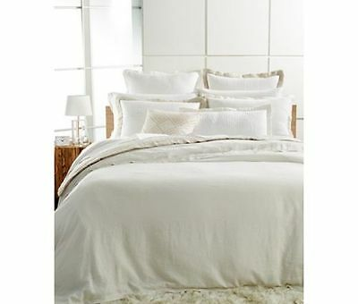 Hotel Collection WHITE LINEN collection pillow sham - standard - white