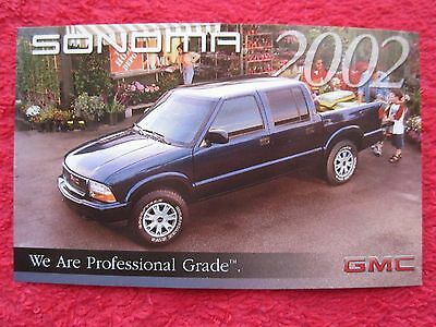 2002 Gmc Sonoma Factory Features / Info Card