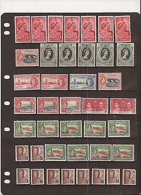 Dominica 41 Stamps Mh