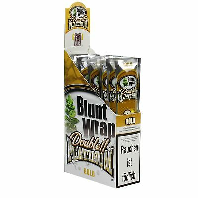 "1 Box (25 Pck/50 Blunts) Blunt Wrap Double ""Gold"""