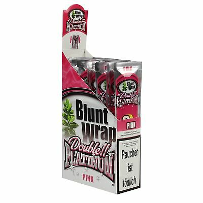 "1 Box (25 Pck/50 Blunts) Blunt Wrap Double ""Pink"""