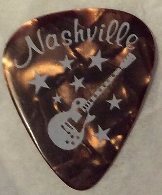 Nashville Guitar Pick  Brown Pearl Plastic with A  Guitar