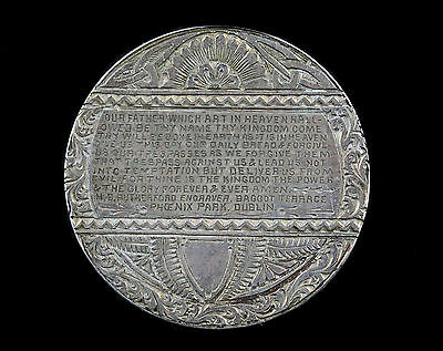 1901 silver love token antique Victorian lords prayer engraved coin Rutherford