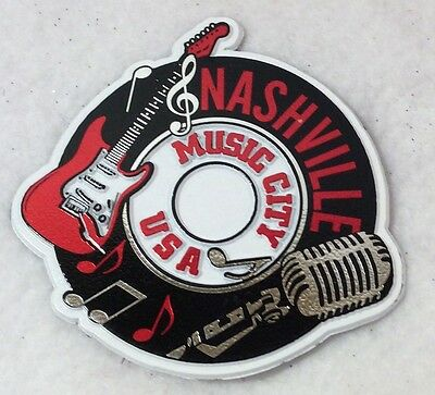 Nashville 50 pcs Magnet Record Music City with Red Guitar/ Microphone Favors NEW