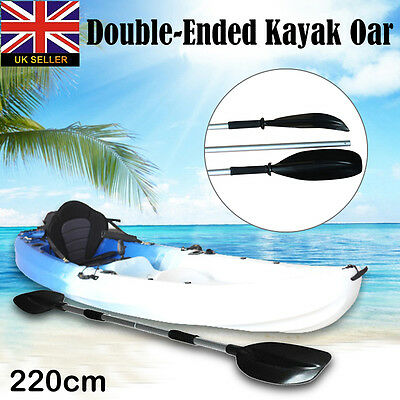 2Pcs 4FT Aluminum Detachable Afloat Kayak Oars Boat Rafting Canoe Paddle