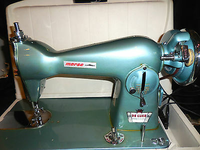 Vintage Morse Deluxe Precision Sewing Machine with case Model 2000