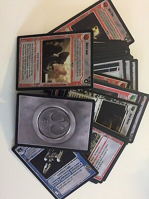 Star Wars The Card Game 50+ Cards With White Rebel Back. Set 4