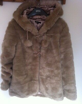 Marks and Spencer Autograph Girls Faux Fur Mink Coat Age 13-14 worn once