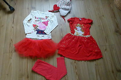 WINTER BUNDLE OF GIRLS CLOTHES - AGE 3-4 YEARS 6 items for xmas