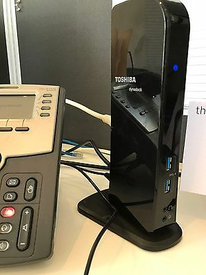 Toshiba dynadock U3.0 Docking Station BENQ LED Monitor & Logitec Wireless Kit
