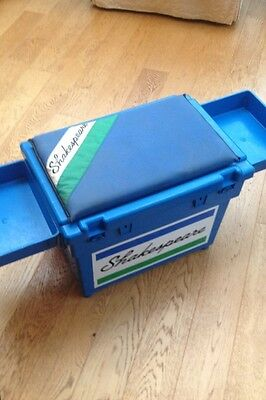 Blue Shakespeare Team Tackle Box With 2 Side Trays
