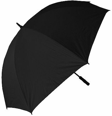 RainStoppers 68-Inch Oversize Windproof Golf Umbrella Solid Black