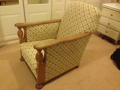 1930s refurbished and re-upholstered chair.
