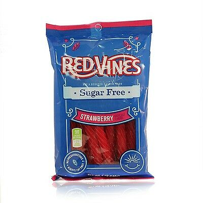 Red Vines Sugar Free Licorice Strawberry Twists 5 Oz Bags  (Pack of 12)
