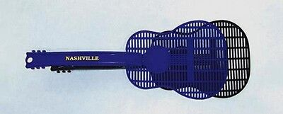 Guitar Shaped Fly Swatters(Two) Nashville Souvenir Blue or Black
