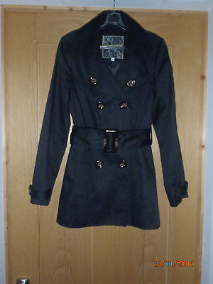 Girls Black Coat - Age 12/13 Yrs - New Look - Excellent Condition