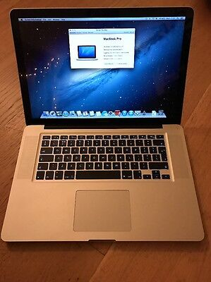 """Apple MacBook Pro 15"""" Mid 2012 2.3ghz i7 4gb 240gb SSD HD Excellent  Condition"""