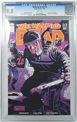 The Walking Dead #32 CGC 9.8 Pinup by Ryan Ottley and Cliff Rathburn