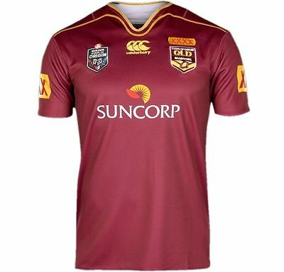 NRL Queensland Maroons State of Origin 2016 Jersey Adults , Size S-3XL