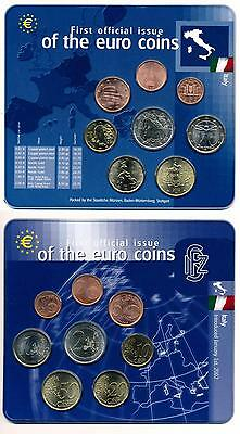 [52076] Italy 2002 First official Issue of the euro coins UNC