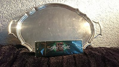 Solid Silver English Hallmarked Butlers Tray. London 1905