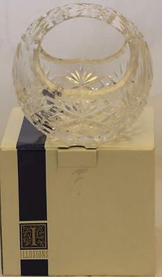 Basket 24% Full Lead Mouthblown Handcut Crystal Fanfare Illusions Easter Flowers