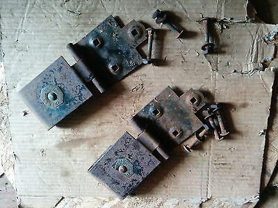 PAIR Antique / Barn Door Rollers Pulleys Trolleys Franz 5