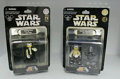 Disney Star Wars Donald Duck As Han Solo & Han Solo In Carbonite - Lot Of 2 New