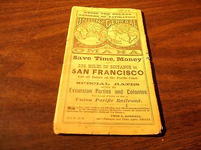 Wow! L@@k! September 1876 Union Pacific And Central Pacific Railroads Timetable