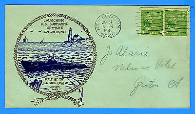 Submarine USS Grayback SS-208 (Lost) Launched January 31, 1941