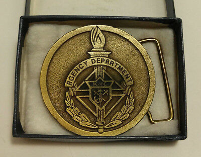 Rare Knights of Columbus Belt Buckle Agency Department
